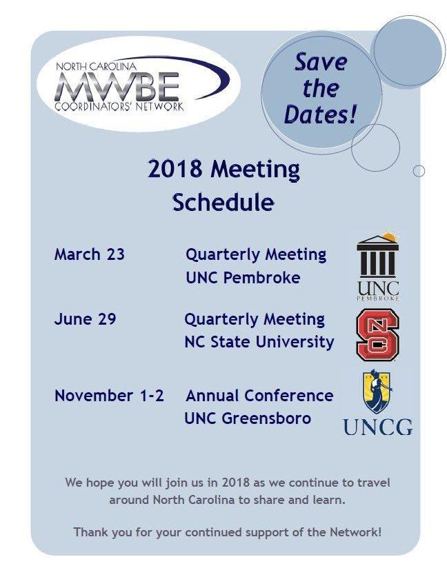 2018 Meeting Flyer