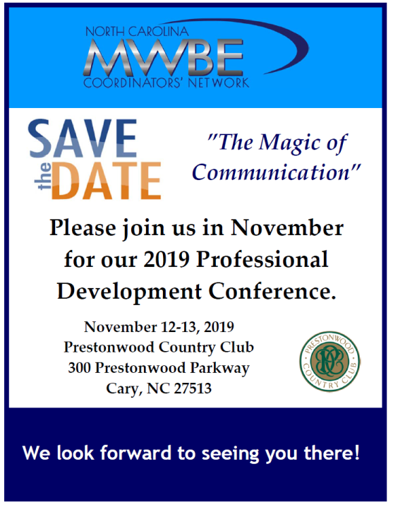 NCCN Conference 2019 Save the Date