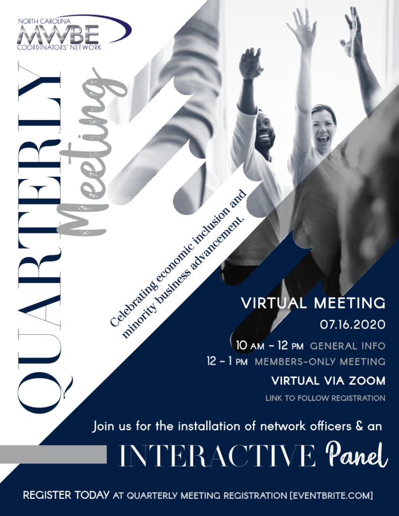 NC MWBE_JulyQuarterly Meeting_Flyer2020
